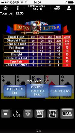 BetVictor Casino Video Poker