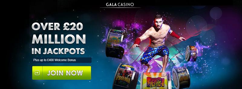 Gala Casino £400 Matched Casino Bonus